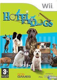 Portada oficial de Hotel for Dogs para Wii